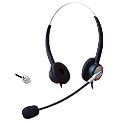 Comdio CH403A1 Corded Call Center Headset Headphone with Mic for Aastra 6757i Mitel 5330 Avaya 1416 2420 5410 ShoreTel IP230 NEC Aspire DT300 DSX Polycom Telephone IP Phones