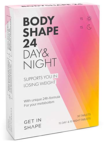 BODYSHAPE 24 Weight Loss Supplement for Day and Night with Green Tea Extract, Green Coffee, Curcuma, African Mango etc. by Get in Shape