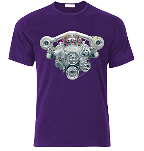 V8 HEMI TWIN TURBO ENGINE CAMARO MUSTANG CHALLENGER SHELBY GT T-shirt size S -