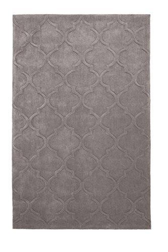 HomeLinenStore Modern mit Marmor Muster Trellis, Teppich, acryl, mink, 150 x 230 Cm - Hand Getuftet Teppiche