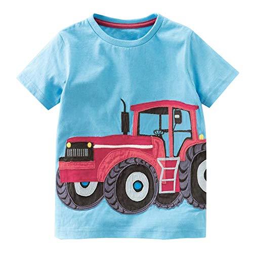 DIASTR Baby T-Shirt Auto Fahrzeuge Traktor Kleinkind Kinder Baby Jungen Mädchen Kleidung Kurzarm Cartoon Tops T-Shirt Bluse -