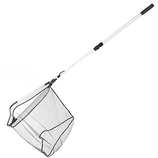 RUNACC Ultraleichte Angeln Kescher Einziehbarer Griff Angeln Net faltbar Fisch Kescher mit Teleskopstange, 95 cm Länge