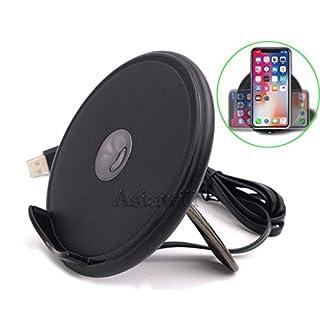 Asiawill Wireless Charger mit Halterung 2 Spulen Qi-Zertifiziert Schnelles kabelloses Laden für iPhoneX / 8 / 8Plus Wireless Charger für Qi-fähige Telefone