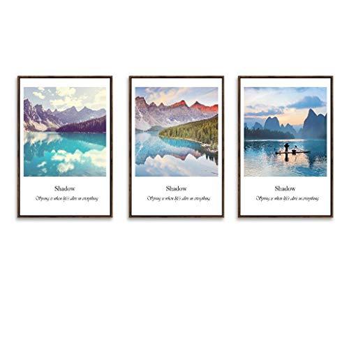 Cxmm Fotorahmen, Bilderrahmen Set 3 Panel Wandkunst Bilder, hängen Dekorative Kunst Für Wohnzimmer Schlafzimmer Schönes Geburtstagsgeschenk/Geschenk, Ausgezeichnete Wandfüller, 6 Stil (Farbe: A -