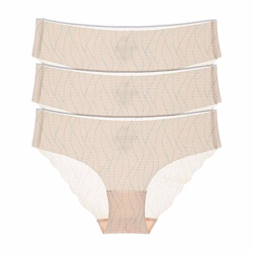 La Isla Damen 3er Pack Komfort Slip - Tailored No Show Low Rise Bikini Hipster Mehrfarbig #3