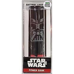 Tribe Star Wars 2600 mAh Power Bank, Caricabatteria Portatile Universale USB Batteria Esterna per tutti Smartphone Cellulari, Darth Vader, Nero