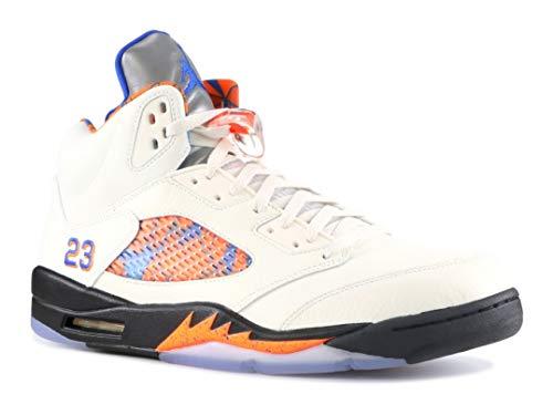 Nike Air Jordan 5 Retro - sail/hyper royal-orange peel, Größe:10.5 -