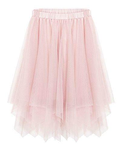 Multi-Layer Net Gonna Garza Gonna, Gonna Moda Vita Alta Gonna Per Le Donne Primavera Estate Pink