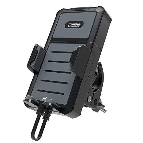 Universeller 2 in 1 Handyhalter fürs Fahrrad oder Motorrad mit 5200mah abnehmbarer Powerbank für alle Smartphones, GoPro und GPS Navigation zwischen 4-6 Zoll mit 180 Grad Drehung - Für Gps-navigation Fahrrad