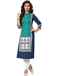 Ishin Cambric Cotton Blue Printed Party Wear Wedding Wear Casual Daily Wear Office Wear Festive Wear New Collection...