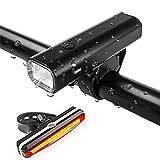 SLGJYY Fahrrad-Licht-Set, USB-Lade-Scheinwerfer, Mountainbike-Lichter, Tote Fliegen Lichter, Elektrische Lichter, Mountainbike-Ausrüstung