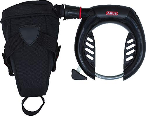 Abus 5950 NR PRO Shield Plus + 6KS/85 + ST5950 Fahrradschloss, Black, One Size