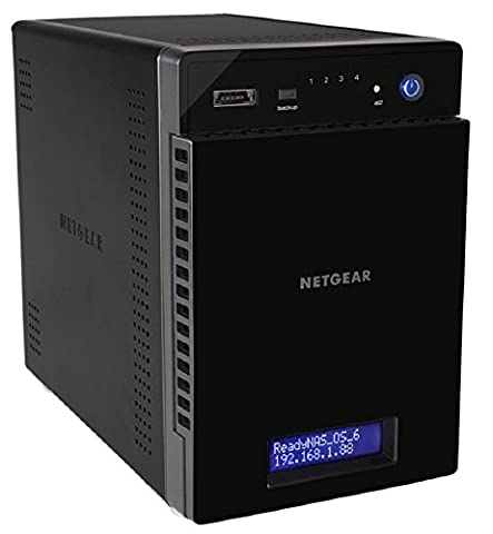 NETGEAR RN20442D-100NES 4-Bay NAS (8,9 cm (3,5 Zoll) USB 3.0, eSATA mit 8TB Speicher) schwarz