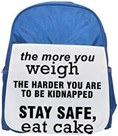 Quote about safety printed kid's Bleu  backpack, backpack, backpack, Cute backpacks, cute small backpacks, cute Noir  backpack, cool Noir  backpack, fashion backpacks, large fashion backpacks, Noir  fashion backpack | à L'aise