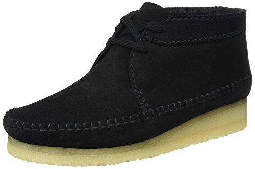 Clarks Originals Damen Weaver. Chukka Boots, Schwarz (Black Suede), 39 EU (Wallabee-schuhe Frauen)