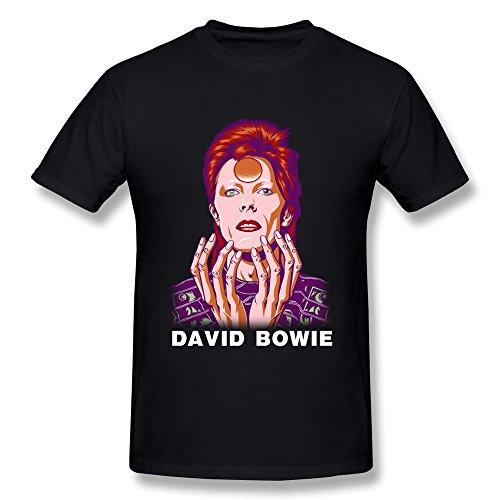 David Bowie - - Männer Aladdin Sane Big Print U-Bahn T-Shirt in Tri-Blend BBlack