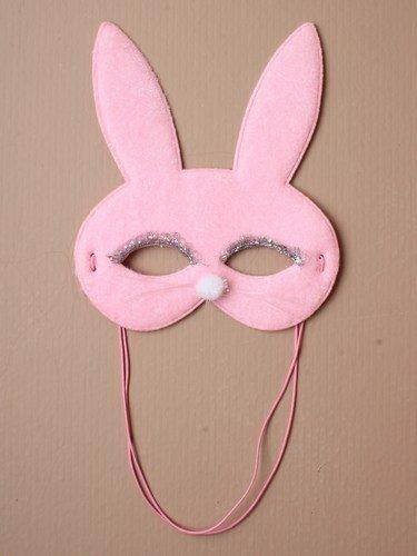Pink Bunny Kaninchen Gesichtsmaske mit Schnurrhaare