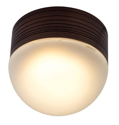Access Lighting 20337MG-BRZ/FST MicroMoon Wet Location Ceiling or Wall Fixture, Bronze Finish with Frosted Glass by Access Lighting (Brz-finish)