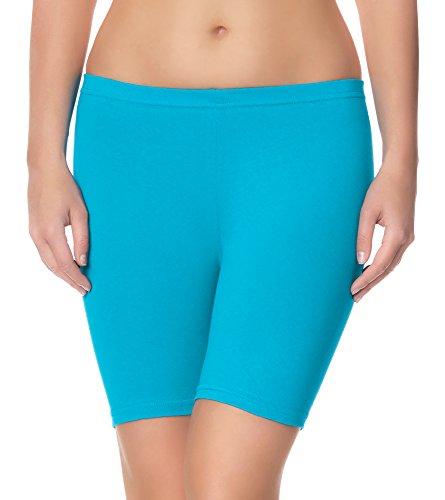 Ladeheid Damen Shorts Long LAMA04 (Türkis23, L/XL (Herstellergröße: 40/42))