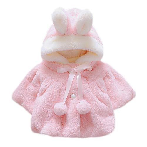 Shiningup Baby-Faux-Pelz-Warmer Winter-mit Kapuze Umhang-Mantel-Hoodie-Mantel-süßer Neugeborener Säuglingskleidung