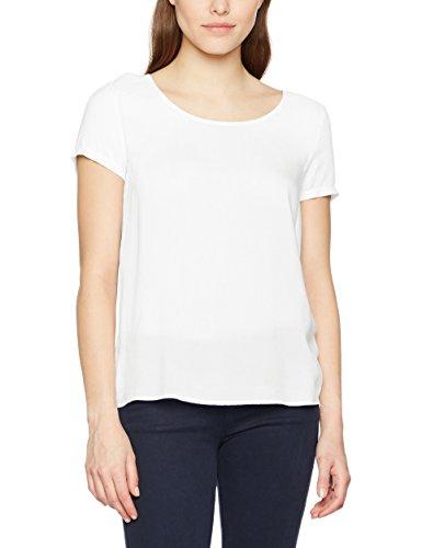 Only Onlfirst Ss Top Noos Wvn, T-Shirt Femme Blanc (Cloud Dancer)