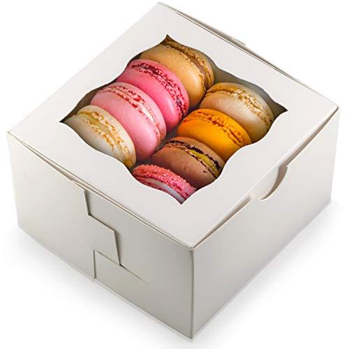 50 Stück Geschenkboxen für Kekse, Kuchen, Gebäck, Donuts, Cupcakes, Süßigkeiten & Gebäck etc. (Trüffel-display)