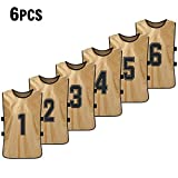Festnight 6 PCS Kid's Basketball Pinnies Quick Drying Basketball Jerseys Youth Sports Scrimmage Soccer Team Training Bibs Practice Sports Vest