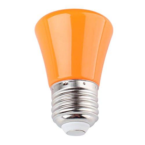 Aquiver 3 couleurs pour Choix Mini 220 V 1,5 W E27 Ampoule LED Lampe support lampe Coque, Orange, e27, 1.5 wattsW