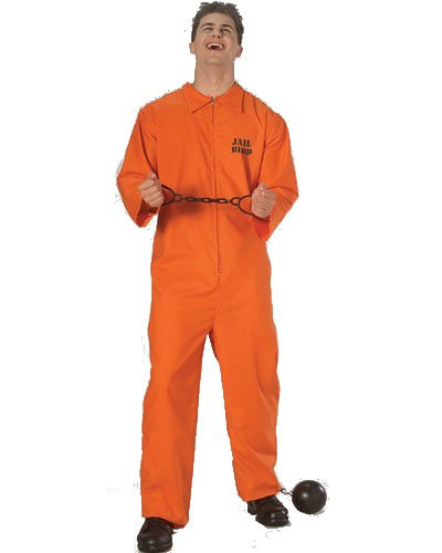 verall orange Gefangener US Knasti Jumpsuit ()