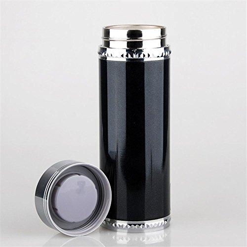 Bouilloire, de voiture ébullition 12V24V 100 degrés allume cigare chauffée tasse d'isolation en acier inox isolée sous vide Noir