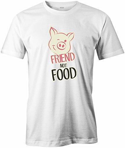 FRIEND NOT FOOD - HERREN - T-SHIRT by Jayess Weiß