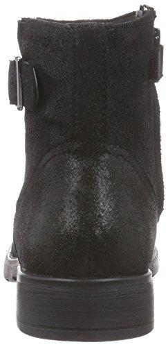 Geox  JR SOFIA A, Bottes de motard courtes, doublure froide filles Schwarz (BLACKC9999)