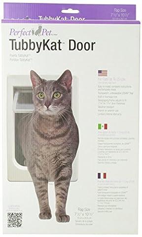 Perfect Pet Tubby Kat Cat Door with 4 Way Lock Lexan Flap Weatherproof Design