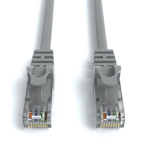 4m CAT.6 Netzwerkkabel (RJ45) Patchkabel Ethernet Lan in grau| 1Gbit/s | 250MHz | kompatibel zu CAT.5 / CAT.5e / CAT.6 | von JAMEGA