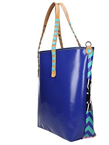 GABS Frau Handtasche GABSILLE-E16 COVER Shopp. DAV / DT-P0042 ABSTRACT BLUE L Astratto blu