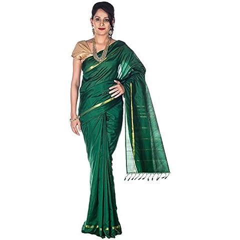 Rajarams Green Coloured Ethnic Wear Pure Handloom