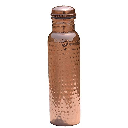 Reines Kupfer gehämmert Flasche mit Deckel   Gelenk frei und undurchlässig   100% Kupfer-Flasche für ayurvedische Gesundheit Vorteile. FASST 900ml oder 30Unze von goodshealthshop