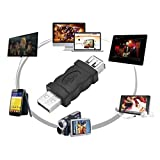 Firewire IEEE 1394 6 pin femmina a USB 2.0 tipo A adattatore maschio Adattatori Telecamere telefoni cellulari Lettore MP3 PDA nero (Colore: nero)