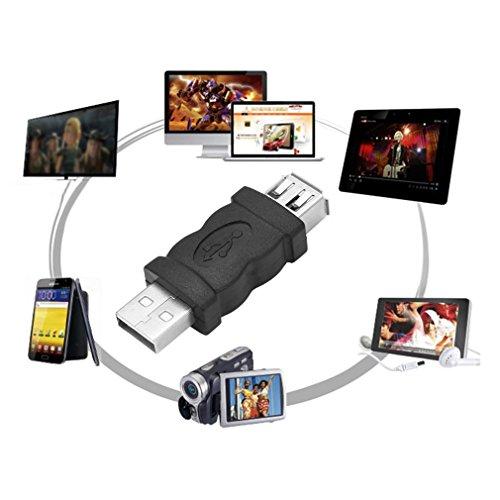 Firewire IEEE 1394 6 Pin Buchse auf USB 2.0 Typ A Stecker Adapter Kameras Handys MP3 Player PDAs Schwarz, Schwarz, Usb-pda-adapter