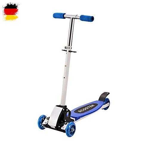 Scooter für Kinder, Kickboard, Tretroller, Klappbarer Roller, Leicht verstaubar, Vierrad, Neu (Kleinkind-jungen-scooter)