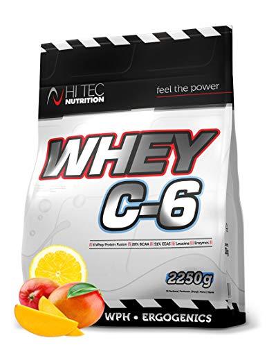 HiTec Nutrition-Whey C6 2250g - Hydrolisat-Isolat-Konzentrat -Whey Protein- BCAA Geschmack Mango - Lemon