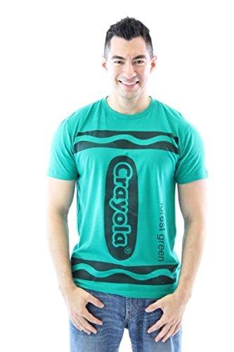 Crayola Crayon Forest grün Erwachsene Kostüm T-shirt (Kostüme Erwachsene Crayola Crayon)