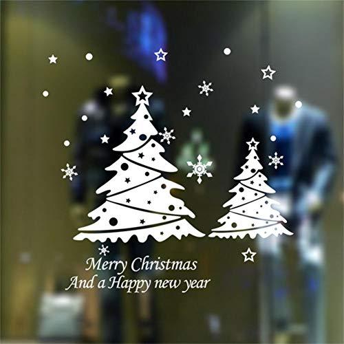 BARCN Wandaufkleber Frohe Weihnacht-Baum-Wand-Aufkleber-Vinylhauptwand-Dekor-Abziehbilder