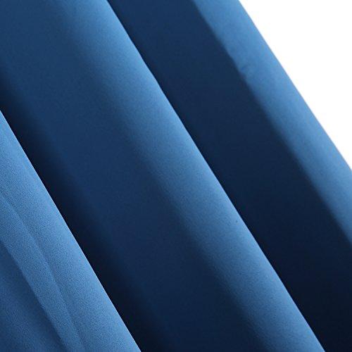 Deconovo Verdunkelungsgardinen mit Ösen Vorhang Blickdicht Ösenvorhang Blickdicht 245×140 cm Blau 2er set - 3
