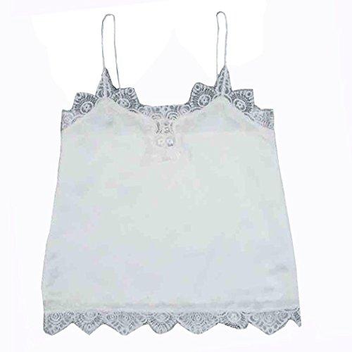 Women Tops , Transer ® Harnais de femmes Sexy débardeurs gilet du soutien-gorge Bustier Bralette chemise Blouse Blanc