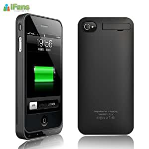 """Made for iPhone"" licensed Beautiful External Battery case Back Cover Charger for Iphone 4 4S"