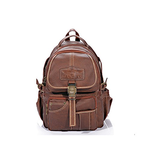 Lycailcy LYC-Lycailcy-A10-3-15, Borsa a zainetto donna marrone Lock Light Brown(10.2 x 4.7 x 14.2 inches) Lock Lock Light Brown(10.2 x 4.7 x 14.2 inches)