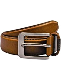 POLO INTL Men's Leather Belt (London Tan, 30 inches)