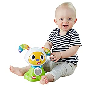 Fisher-Price Dance and Move BeatBowWow, Baby Electronic Dog Toy with Music, Lights, Tunes and Phrases, 9 Months Plus