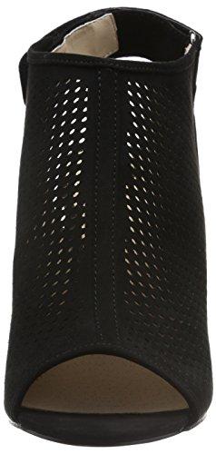 Similpelle Camoscio Di Nero Sandali Micro 2201 Colore Donna Nero Aperti Strada Sandali Nero qE1T1